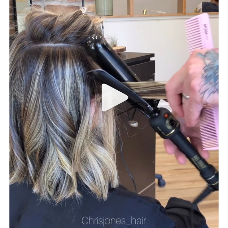 Waves and Texture Instagram Hair Tutorial and Tips Chris Jones Marcel Waves Videos Bob Lob
