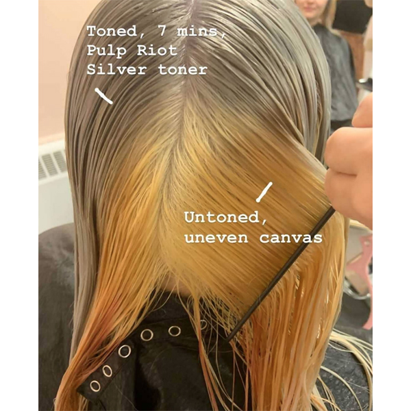 Kelly O'Leary-Woodford @hairbymisskellyo Knowing When To Pre-Tone Before Applying A Fashion Color