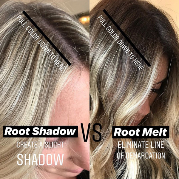 Carly Zanoni @the.blonde.chronicles Root Shadow Vs Root Melt Do You Know The Difference Slight Shadow Eliminate Line Of Demarcation Blur Teasylight Foil Redken Shades EQ
